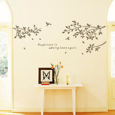 Removable Birds Branch Wall Stickers Home Art Decor Living Room DIY Vinyl Decals