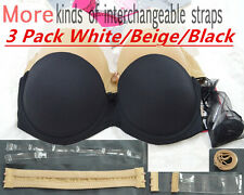 Bride Invisible Strapless Lingerie Women Multiway Clear Back Straps Push Up Bra