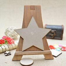 Wooden Stars Small/Large Hanging Stars Embellishments Wooden Star Shapes