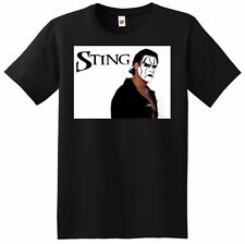 STING T SHIRT wcw wwe wrestler poster tee SMALL MEDIUM LARGE or XL adult sizes