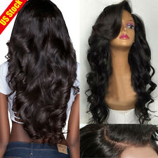 Unprocessed Human Hair Wigs Lace Front Glueless Full Lace Wig with Baby Hair #56