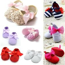 AU Toddler Baby Anti-slip Soft Sole Crib Shoes Newborn Infants Prewalker 0-18M