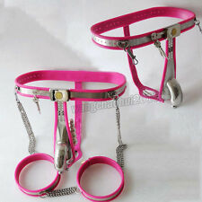 Luxurious Stainless Steel Male Chastity Belt Device Adjustable Thighs Removable