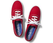 Keds Champion Red Canvas Lace Up Tennis shoes Sneakers New in Box!