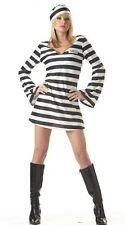 COSTUME PRISONER SEXY FOR WOMEN SUIT INMATE PARTY HALLOWEEN CARNIVAL