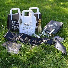 BRIDE TRIBE HEN PARTY ACCESSORIES - Black & Gold Bride to Be Elegant Hen Party