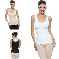 Lady Wirefree Cami Body Shaper Fitted Bust Tank Tops Full Back Shaping Camisole