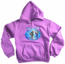 NEW GIRLS KIDS PURPLE FROZEN ELSA ANNA HOODIE JUMPER TOP SIZE 8-14 STYLE-1