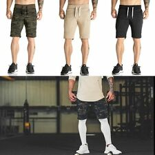 Mens Camo Athletic Gym Sport Shorts Muscle Brothers Jogging Running Short Pants