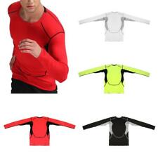 Men's Sports Athletic Long Sleeve Shirts Compression Jogging Base Layer Top
