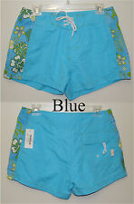 Verona Blue Purple Green Lace Up & Velcro Floral Surf Board Shorts  Size L or XL