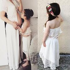 Girls Skirt and Crop Top Dress Kids Baby Party Wedding Outfit White 2pieces Set
