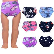 """Cute Doll Underwear Printed Panties for 18"""" American Girl Doll Clothes Dress up"""