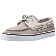 Sperry Bahama Womens Grey Canvas Casual Boat Shoes Lace-up Genuine Shoes