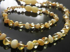 LOVELY GENUINE BALTIC AMBER BRACELET & NECKLACE SET LEMON & HONEY COLOURS