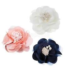 Classic Charm White/Pink/Dark Blue Camellia Pin Brooch Flower Pin Clip