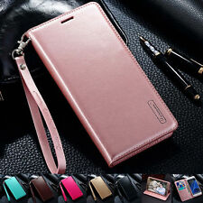 Luxury PU Leather Wallet Card Flip Case Cover For Pouch Samsung Galaxy/iPhone B
