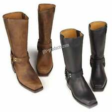 Buffalo Bikerboots Western Cowboy genuine leather boots black brown  Top Quality