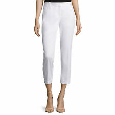 Liz Claiborne Cuffed Sateen Cropped Pants Size 4P New Msrp $44.00