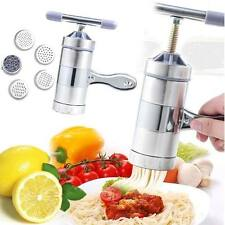 Stainless Steel Manual Pasta Machine Hand Pressure Noodle Maker Fruit Juicer New