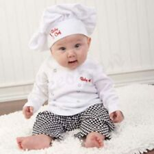 3pc Set Baby Cook Chef Outfit Top Shirt Pants Hat Boy Girl Party Costume Clothes