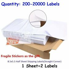 200-20000 8.5x5.5 Quality Shipping Labels Half Sheet Self Adhesive for UPS FedEX