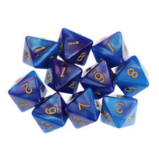 10PCS D8 Polyhedral Dice 8 Sided Dice for Dungeons and Dragons Board Games