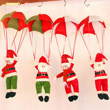 Christmas Tree Hanging Decoration Snowman Santa Claus Ornaments Xmas Parachute