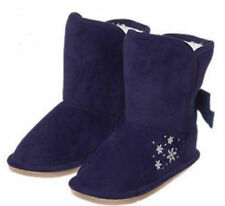 7 8 9 Gymboree Navy Blue Faux Suede Snowflake Boots New Fur Toddler Girl NWT