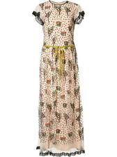 NWT RED VALENTINO FLORAL EMBROIDERY LONG DRESS MR3VA04N IT 42