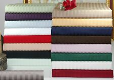 1000 TC EGYPTIAN COTTON OLYMPIC QUEEN SIZE 4PC SHEET SET ALL SOLID/STRIPE COLORS