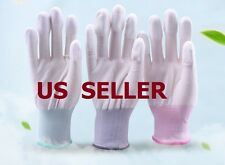 US SHIP 2 Pairs Textured Finger Rubber Coated Work Gloves Flexible Tight S M L