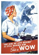 World War II Rosie The Riveter Shes A WOW Woman Ordnance Worker Poster Free Ship