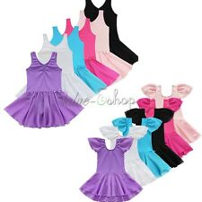 Toddler Girls Kids Gymnastics Dance Dress Leotard Unitard Ballet Tutu Dancewear