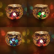 Special 3in1 Handmade Turkish Moroccan Glass Mosaic Candle Holder Tea Light - UK