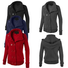 Chic Hot Womens Winter Warm Double-Breasted Slim Fit Trench Coat Jacket Outwear