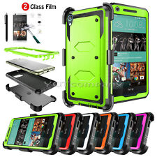 Shockproof Hybrid Rugged Hard Case Cover Stand Clip Holster HTC Desire 626 626S