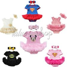 Xmas Baby Girls Clothes Dress Minnie Party Outfit Tutu Newborn Romper + Headband