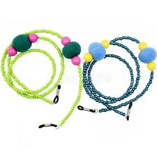 Plush Ball Beaded Eyeglass Sunglass Neck Cord Retainer Holder Eyewear Strap
