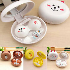 Mini Travel Portable Cute Catoon Animal Contact Lens Case Container Holder Box u