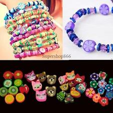 100 PCS Clay Beads DIY Slices Mixed Color Fimo Polymer Clay SO6H
