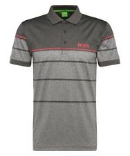 NEW HUGO BOSS MEN'S PADDY PRO 2 PREMIUM COTTON POLO SHIRT GRAY 50316390 NWT