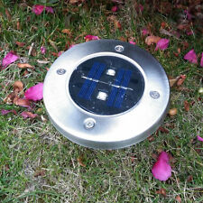 4 Pack Stainless Steel Solar Ground Light for Outerdoor Patio Yard Deck Driveway