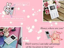 Ultra Thin Card Pocket Mini Mobile Phone Dual Band Low Radiation for Kids SM