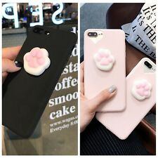 3D lazy Soft Lovely Cat Soft Silicone Phone Case Cover For iPhone 6/6S/7 Plus