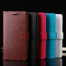 Fashion Flip Wallet Card  Faux Leather Case Cover for iPhone 7 Samsung S7 Candid