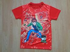 BOYS BEN 10 ALIEN FORCE T-SHIRT AGE 4-7 YEARS- RED- NEW- UK SELLER
