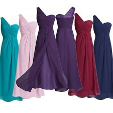 Lady Chiffon Long Formal Evening PROM Party Bridesmaid Dress Ball Gown Cocktail