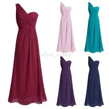 Women Long Bridesmaid Dress Evening Party Prom Formal Cocktail Chiffon Dress