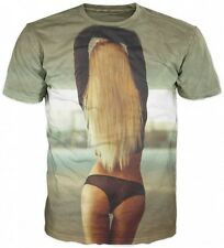 New Men Party T-shirt Hot Sexy Inked Blond Lady Fit Tight Ass Boobs Slut 3D